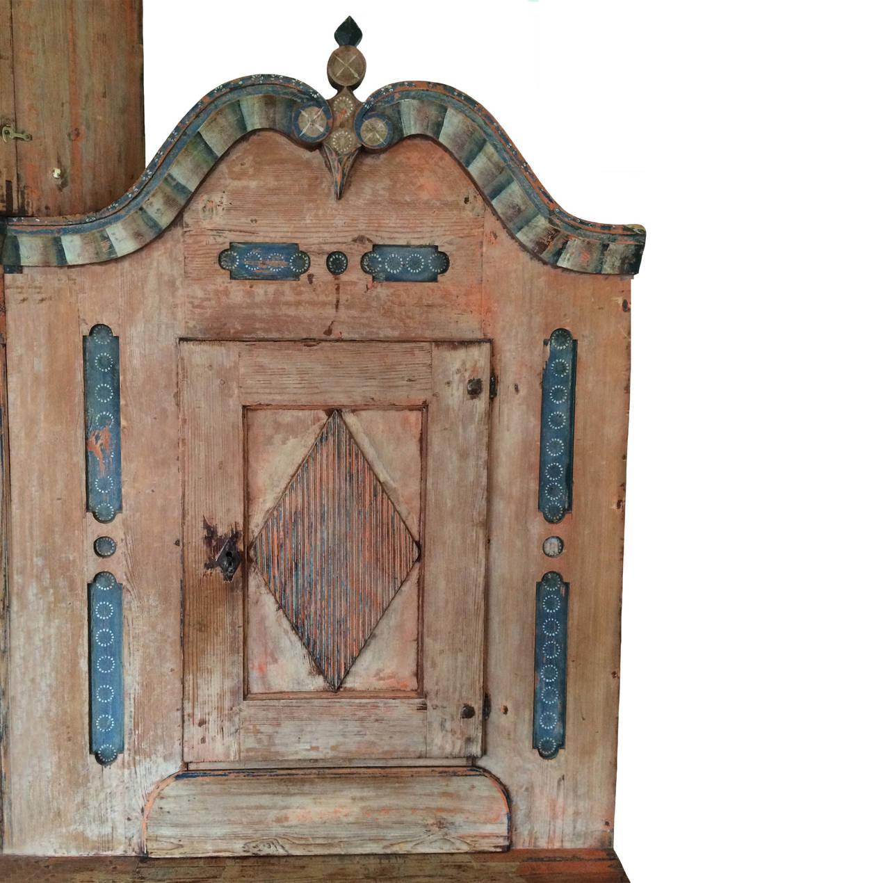 Gustavian Swedish Clock Cabinet At 1stdibs