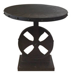 Mid-Century Industrial Iron Table