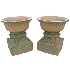 Pair of Rookwood Garden Urns