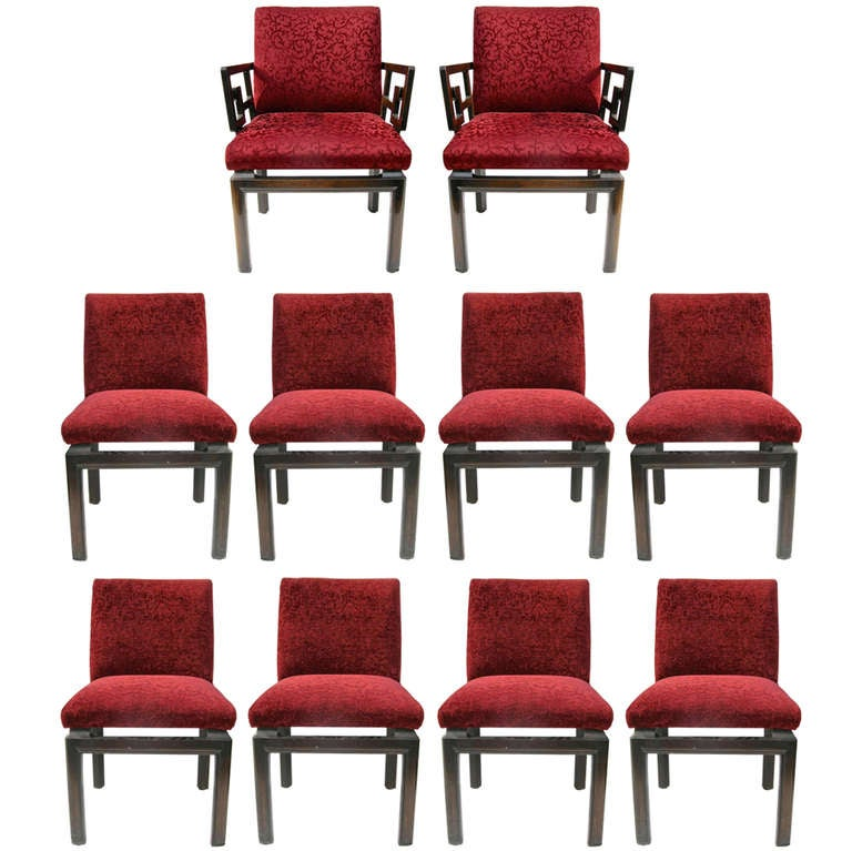 Set Of Eight Michael Taylor Chairs For Baker At 1stdibs