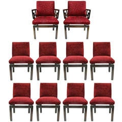 Set of Eight Michael Taylor Chairs for Baker