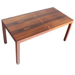 Mid-Century Modern Rosewood Parsons Coffee Table