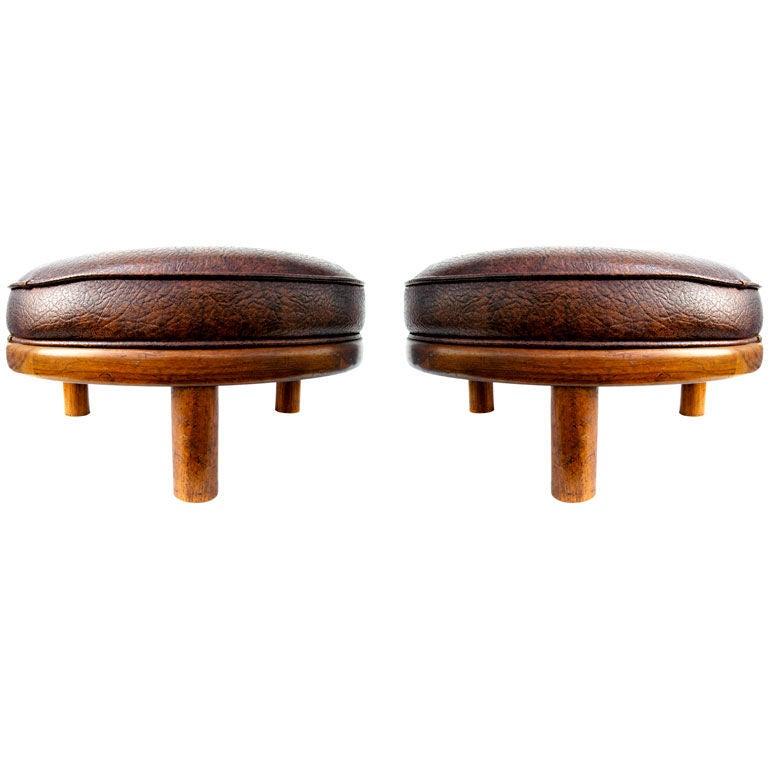 Pair Of Handsome Modernist Stools At 1stdibs