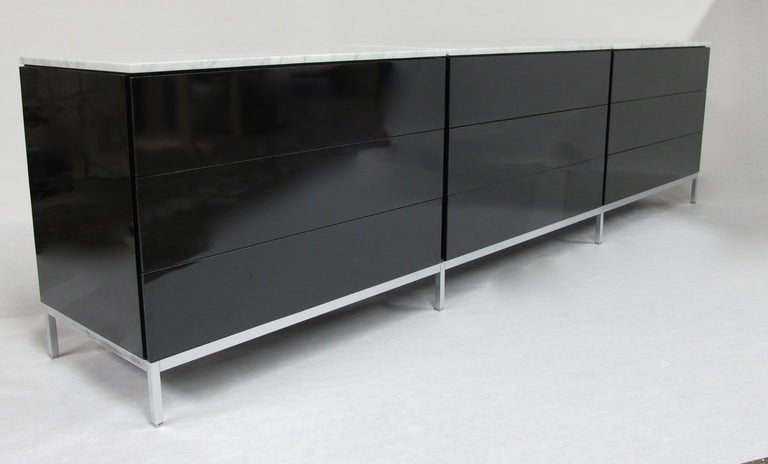Florence Knoll Nine Drawer Dresser By Knoll Associates At