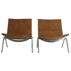 Pair of Poul Kjaerholm PK-22 Chairs
