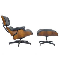 Chair and Ottoman by Charles and Ray Eames, 670/671