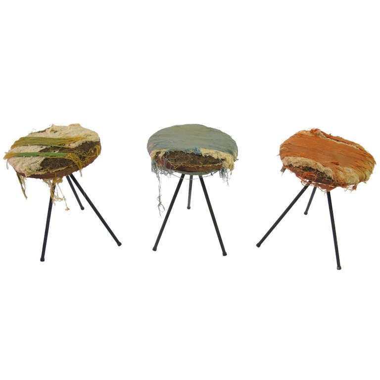 Norman Cherner Stools For Konwiser At 1stdibs