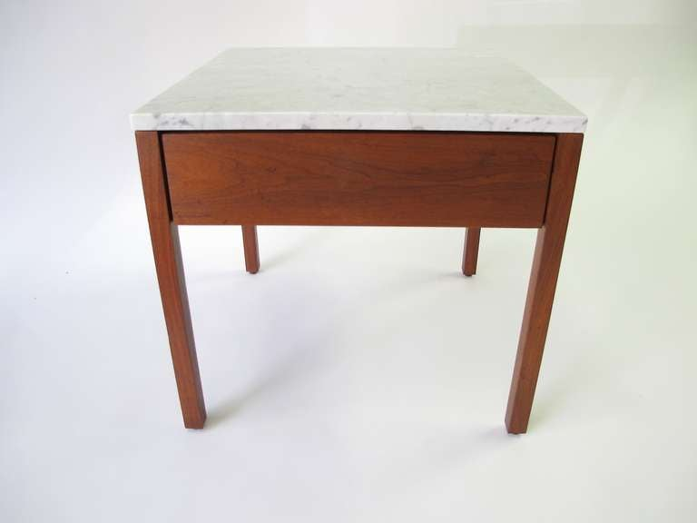 Knoll Associates Single Drawer Side Tables At 1stdibs
