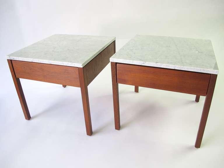 Knoll Associates Single Drawer Side Tables At 1stdibs
