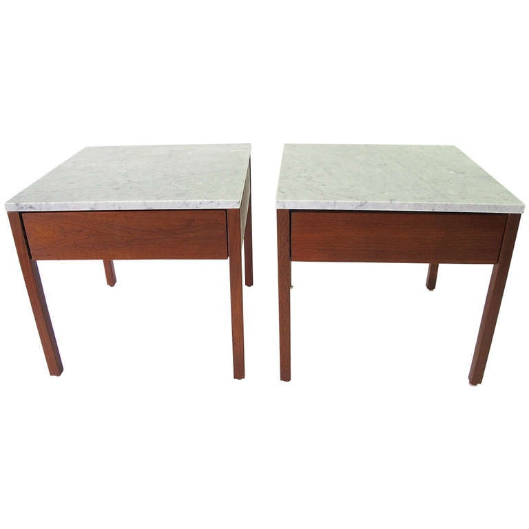 Knoll associates single drawer side tables at 1stdibs for Knoll associates