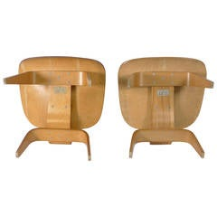 Charles and Ray Eames LCW's, 1948 Evans Labels Chairs