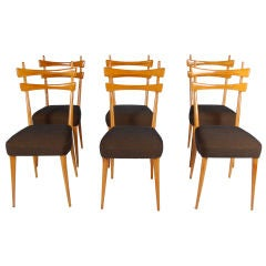 CARLO DI CARLI ; SET OF 6 DINING CHAIRS