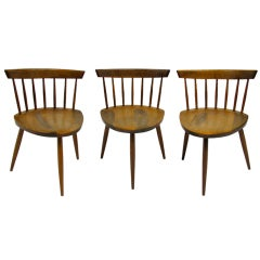 George Nakashima set of three Mira chairs