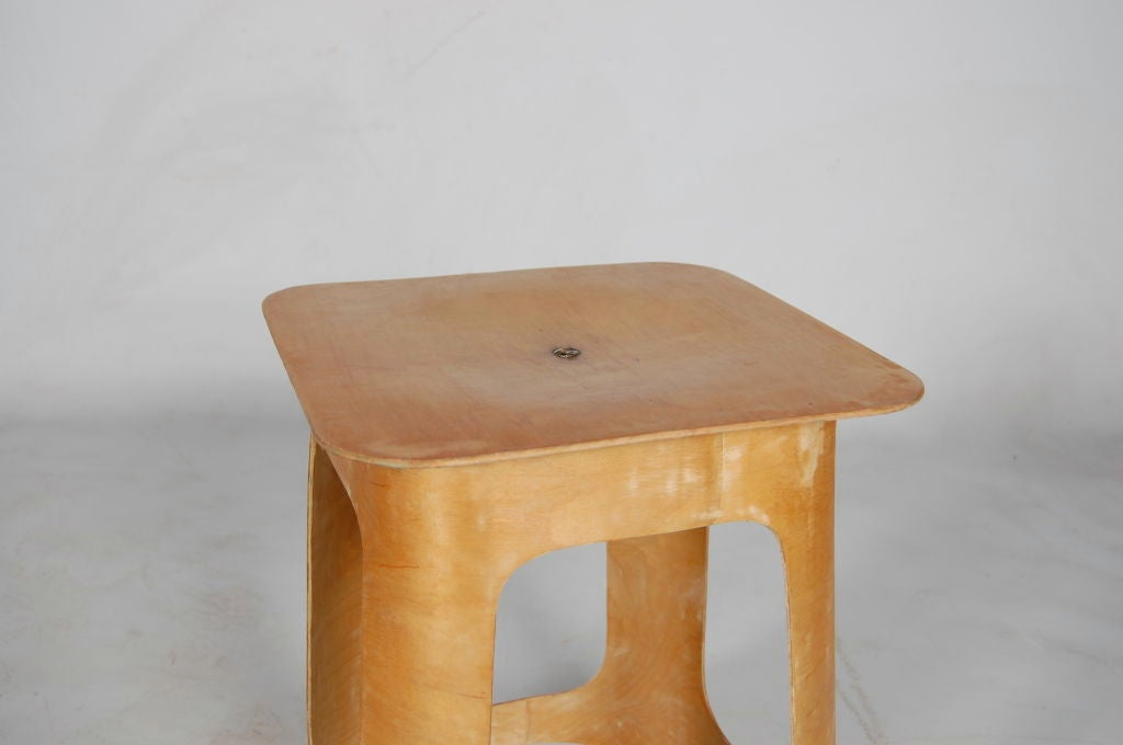 Venesta Plywood Stool At 1stdibs