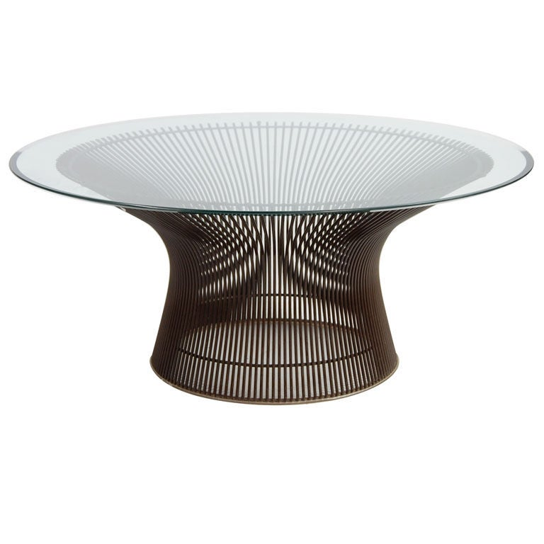 Bronze Base Platner Coffee Table At 1stdibs