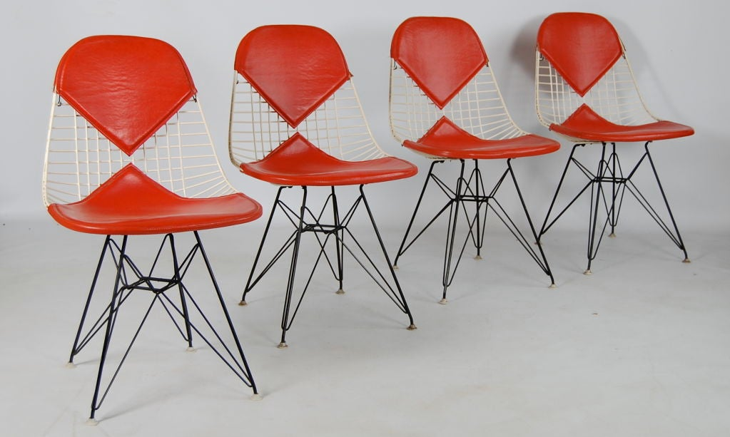 Charles Eames ; 4 Vintage Eiffel Chairs at 1stdibs