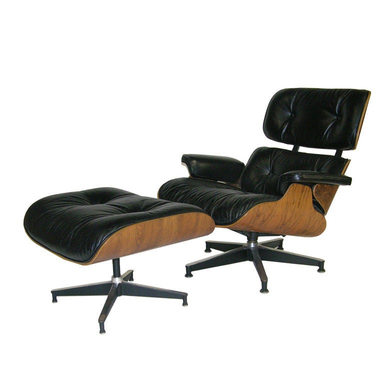 eames lounge chair and ottoman produced by herman miller at 1stdibs