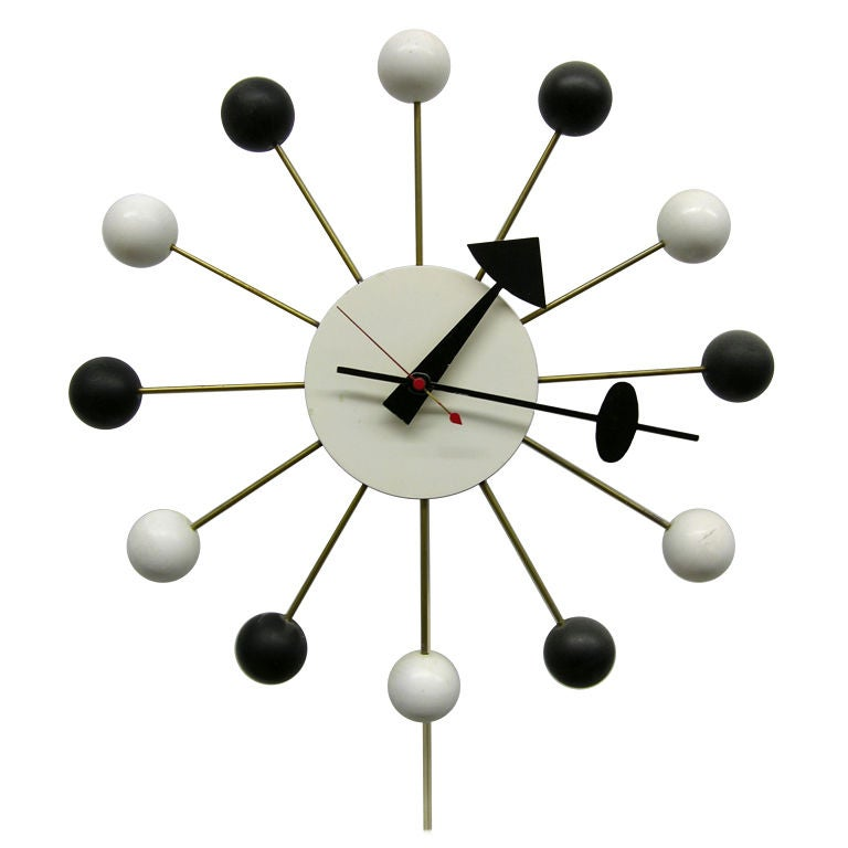 George nelson and associates ball clock at 1stdibs for Nelson wall clock