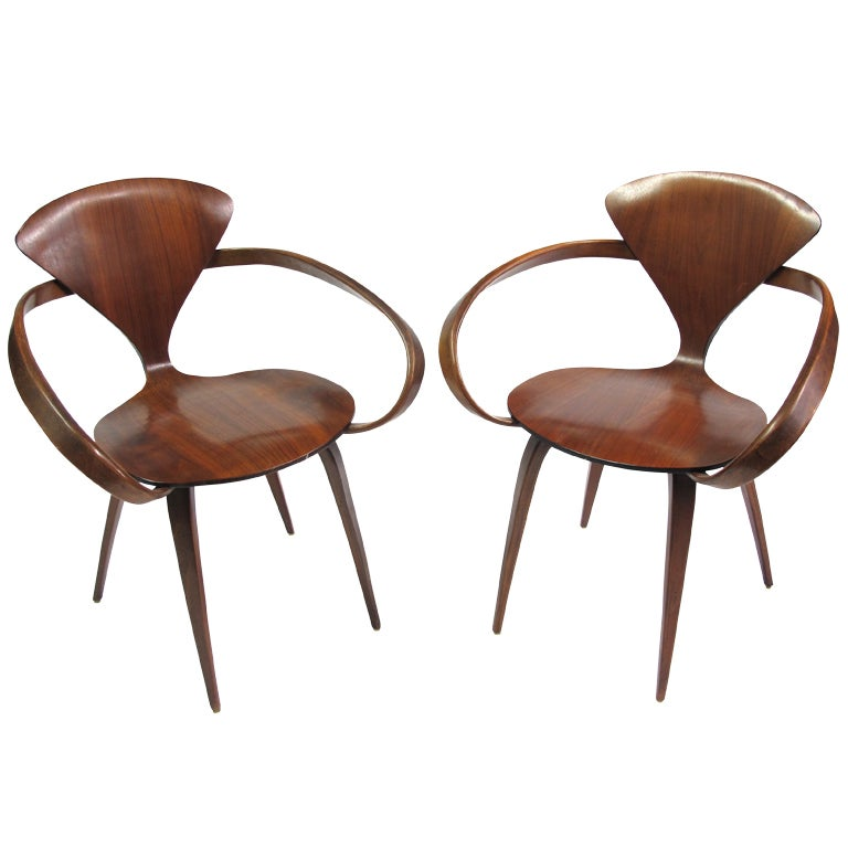norman cherner armchairs for plycraft 1