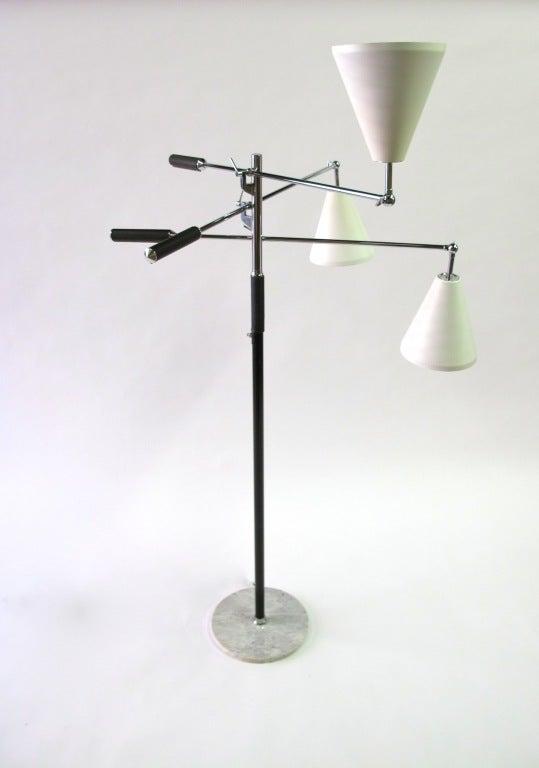 arredoluce three arm floor lamp image 3. Black Bedroom Furniture Sets. Home Design Ideas