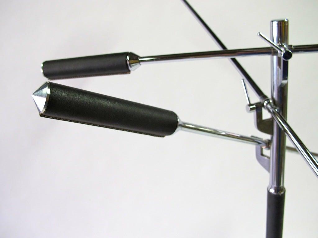 arredoluce three arm floor lamp at 1stdibs. Black Bedroom Furniture Sets. Home Design Ideas