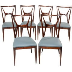 Set of rare chairs by Ico Parisi