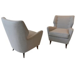 Pair of armchairs by Gio  Ponti