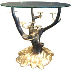 Patinated bronze drinks table by Willy Daro (attrib)