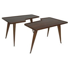 Pair of tables designed by Gio Ponti