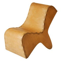 Sculptural French plywood chair thumbnail 1
