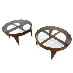 Pair of rare side tables by Gio Ponti