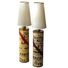 Pair of Fornasetti Lamps