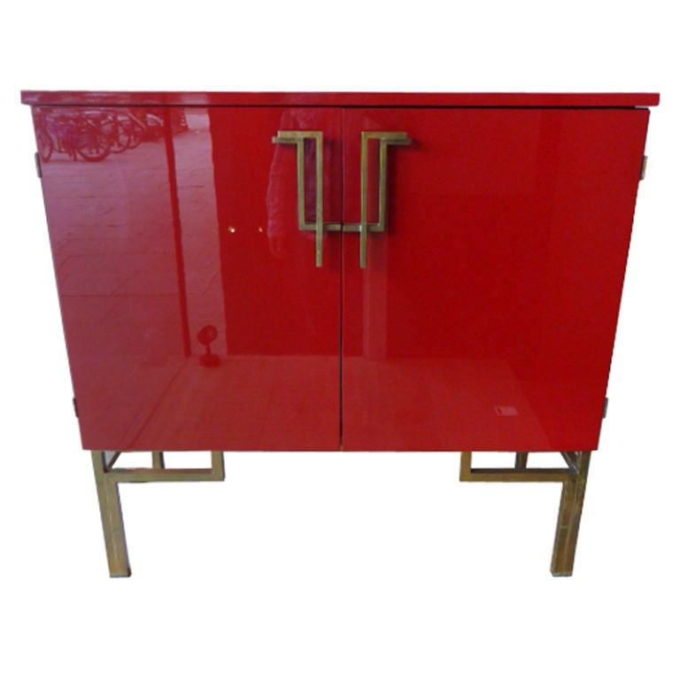 red lacquer chinoiserie bar cabinet at 1stdibs