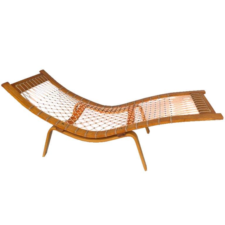 hans wegner 39 hammock 39 chaise longue at 1stdibs. Black Bedroom Furniture Sets. Home Design Ideas