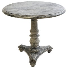 French Louis Philippe Bardiglio Marble Centre Table c1845.