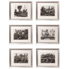 "Set of Six Original Prints from Piranesi's ""Vasi, Candelabri, Cippi"" 1778"