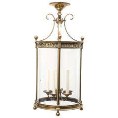 French Bronze Neo-classical Lantern With Five Branch Light Fitting C.1900