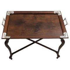 Silver Mounted Chinese Rosewood Tray c.1900