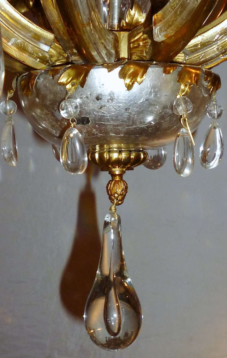 Superb French Bagues Eight Light Cut Glass Chandelier C