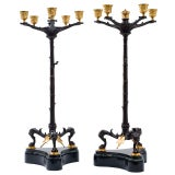 Pair French Napoleon III Candelabra
