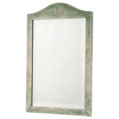 English Arch Top Shagreen Mirror