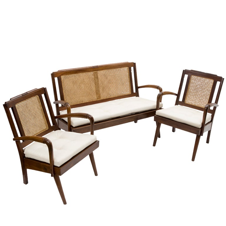 Anglo Indian Bombay Deco Armchairs And Sofa Set At 1stdibs