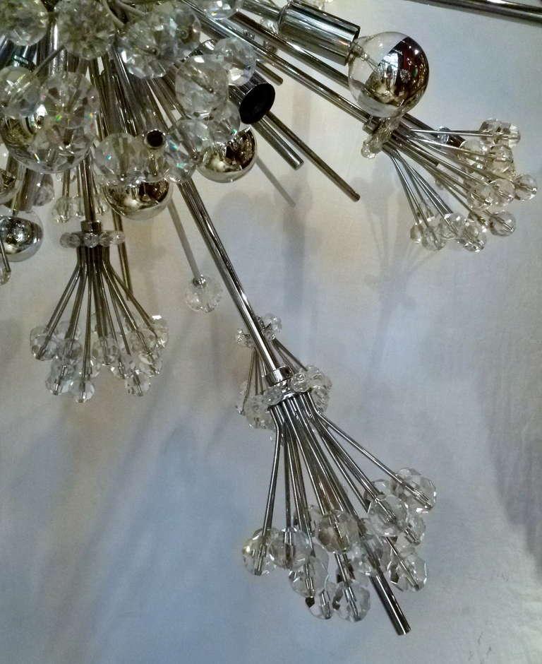 Austrian Chrome And Swarovski Crystal Sputnik Chandelier