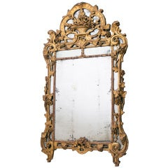 Very Fine French Provincial Giltwood Mirror c1765