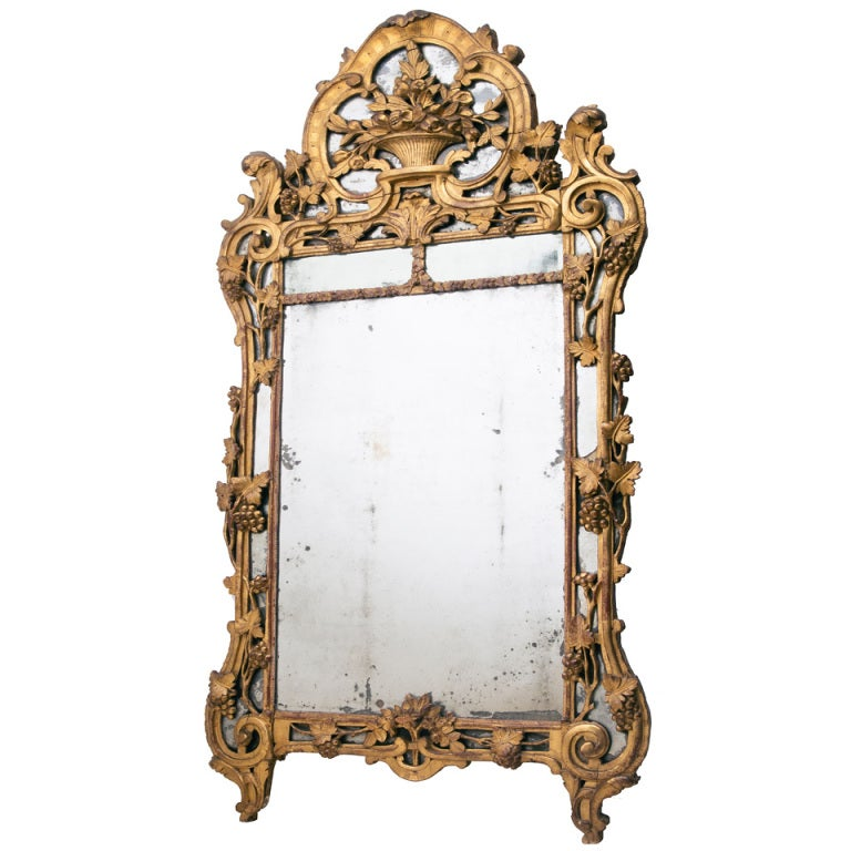french provincial mirror provincial giltwood mirror c1765 at 1stdibs 1106