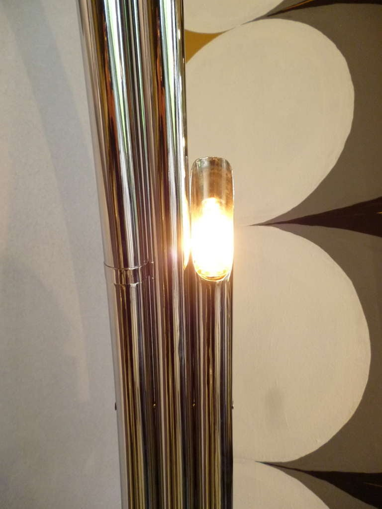 Iconic english chrome 1960s arc floor lamp at 1stdibs for Iconic lights senk floor lamp chrome