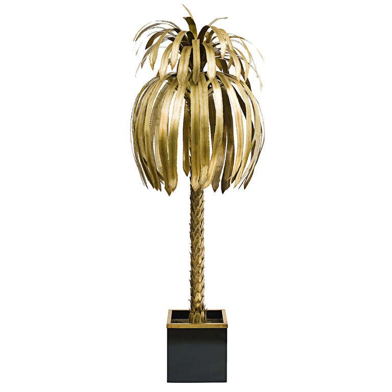 Large Tree Floor Lamp Large French Bronze Palm Tree Floor Lamp C1970 At 1stdibs