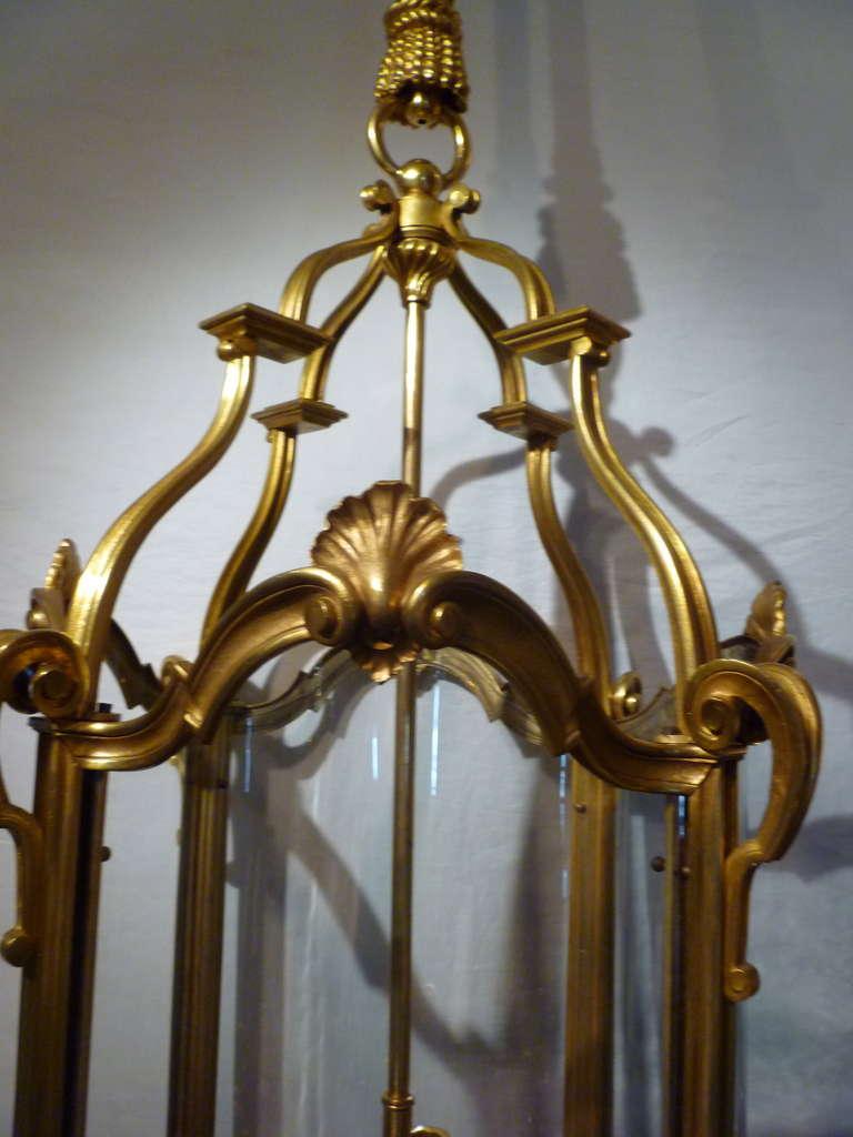 19th Century French Napoleon III Gilt Bronze Lantern At