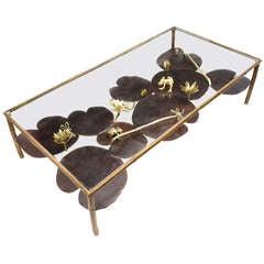 """A Unique Paula Swinnen Bronze """"Nenuphar"""" Coffee Table - 2013"""