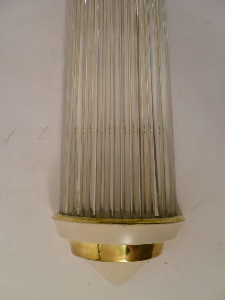 Set of Four English Art Deco, Odeon Style Wall Lights at 1stdibs